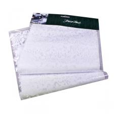 Decorative White Lace Effect Vinyl Table Runner - 28.5cm x 2m