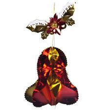 Gold/Red Hanging Bell - 14