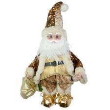Cream & Gold Musical Animated Santa - 42cm
