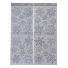 Assorted Blue & Silver Snowflake Window Stickers