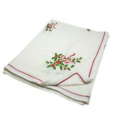 Holly Embroided Tablecloth - 137cm X 228cm (54