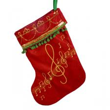 Gisela Graham Musical Note Stocking - 40cm
