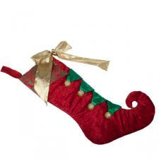 Red, Green & Gold Traditional Stocking - 30cm X 50cm