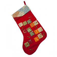 Gisela Graham Felt Merry Christmas Stocking - 40cm