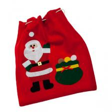 Santa With Sack Gift Sack - 26cm x 23cm
