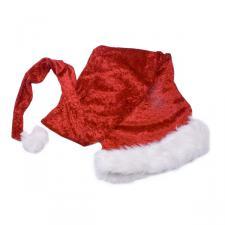 Velvet Plush Santa Hat With Fur Trim - 1.5m