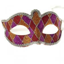 16cm Multi Coloured Glitter Mask