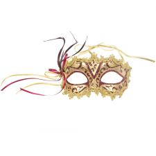 Decorative Burgundy & Gold Opera Mask - 15cm x 8cm