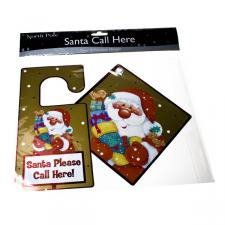 Pack Of 2 Santa Please Call Here Signs