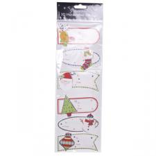 Pack Of 6 Assorted Handcrafted Tags Including Bauble Design