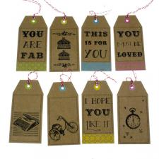 Talking Tables Pack Of 8 Lovely Gift Tags