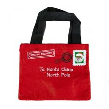 Gisela Graham Santa Design Letter To Santa Felt Gift Bag