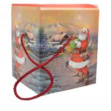Set Of 3 Gift Boxes In Two Assorted Santa Designs - 3 Sizes