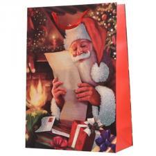 Santa Reading A Letter Design Character Gift Bag - 18cm x 50cm x 72cm