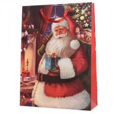 Santa With A Present Design Character Gift Bag - 18cm x 50cm x 72cm
