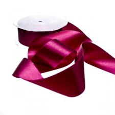 Bordeaux Red Double Face Satin Ribbon - 25m x 38mm