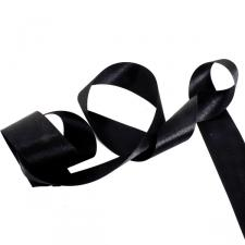 Black Double Face Satin Ribbon - 25m x 38mm