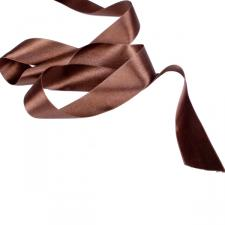 Brown Double Face Satin Ribbon - 25m x 38mm