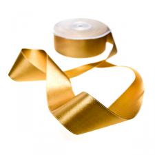 Gold Double Face Satin Ribbon - 25m x 38mm