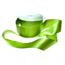 Intense Green Double Face Satin Ribbon - 25m x 38mm