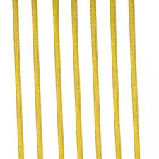 Light Gold Double Face Satin Ribbon - 50m x 3.5mm