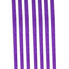 Purple Double Face Satin Ribbon - 50m x 3.5mm