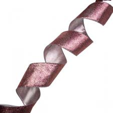 Gisela Graham Pale Pink Sparkle Ribbon - 63mm x 3m