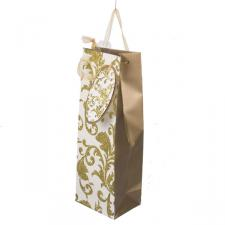 Gold & Cream Glitter & Gem Bottle Bag