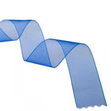 Royal Blue Organza Woven Edge Ribbon - 25m x 25mm