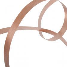 Light Brown Poly Plain Ribbon -25m x 10mm