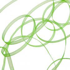 Apple Green Organza Woven Edge Ribbon - 3mm X 50m