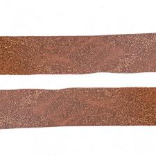 Roll Of Copper Glitter Christmas Ribbon - 6cm X 2.7m