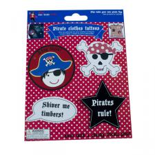 Believe You Can Fair Trade Pirate Clothes Tattoos - 4 Pack