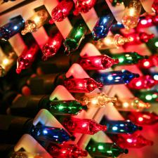 Konstsmide 11.85m Length Of 80 Multi Coloured Outdoor Static Fairy Lights Green Cable