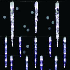 Premier 6.9m Length Of 24 White Indoor And Outdoor Multi Function Chaser Clear Icicles With 72 LED's Clear Cable