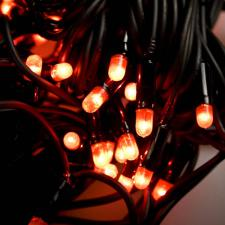 10m Length Of 100 Red Indoor And Outdoor Chasing Connectable Fairy Lights Black Cable
