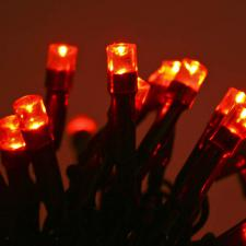 4m Length of 40 Red LED Static Supabright Fairy Lights, Green Cable