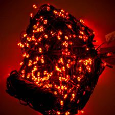 8m Length Of 80 Red Multi Action Outdoor Premier Supabrights LED Fairy Lights Green Cable