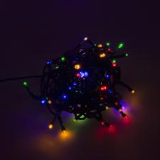 120m Length Of 1200 Multi Coloured Multi Action Outdoor Premier Supabrights LED Fairy Lights Green Cable