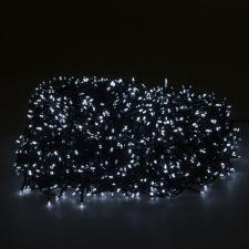 120m Length Of 1200 White Multi Action Outdoor Premier Supabrights LED Fairy Lights Green Cable