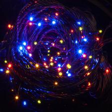 Konstsmide 8m Length Of 120 Multi Coloured Multi Function Outdoor Micro LED Fairy Lights. Black Cable.