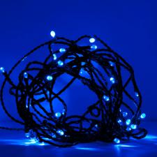 Konstsmide 5.85m Length Of 40 Blue Indoor Outdoor Static Micro LED Fairy Lights Black Cable