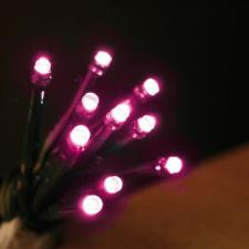 Noma 14.32m Length Of 180 Pink Indoor & Outdoor Multi Function LED Fairy Lights Green Cable