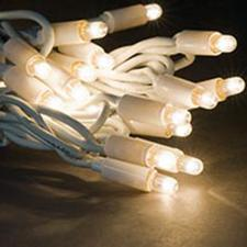 MK 20m Length Of White 120 Indoor And Outdoor Static Connectable LED String Lights White Rubber Cable