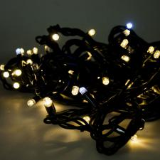 Festilight 10m Length Of 100 Indoor & Outdoor Connectable Flashing Warm White LED String Lights On Black Rubber Cable