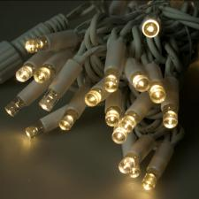 Idolight 4m Length Of 40 Warm White Indoor & Outdoor Connectable Static LED String Lights on a White Rubber Cable