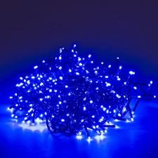 500 Blue Multi Action Outdoor Treebrights LED Fairy Lights On Green Cable