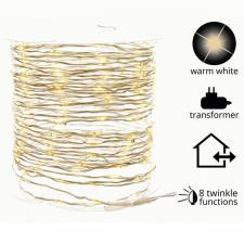 12m Length Of 240 Indoor & Outdoor Warm White Twinkling LED Fairy Lights On Wire