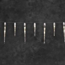 Konstsmide 5m length of 48 Indoor And Outdoor static Warm White LEDs in 32 Icicle Lights White Cable