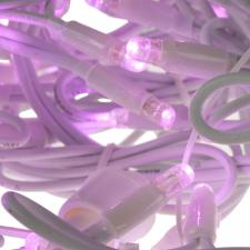 Light Creations 3m wide X 0.7m drop  Indoor and Outdoor Connectable 150 Pink LED Icicle Lights White Cable